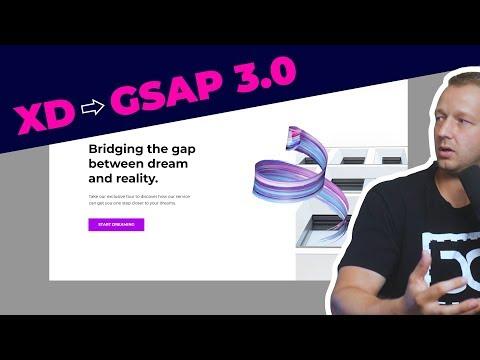 Adobe XD Prototyping to GSAP 3.0 Tutorial - Part 1 thumbnail