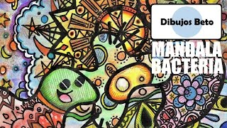 "DIBUJOS ORIGINALES [ Speed drawing ] ""Mandala Bacteria - Técnica mixta"""