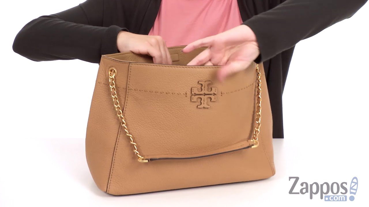 ad2ab6e5e3095 Tory Burch McGraw Chain-Shoulder Slouchy Tote SKU  8976568 - YouTube