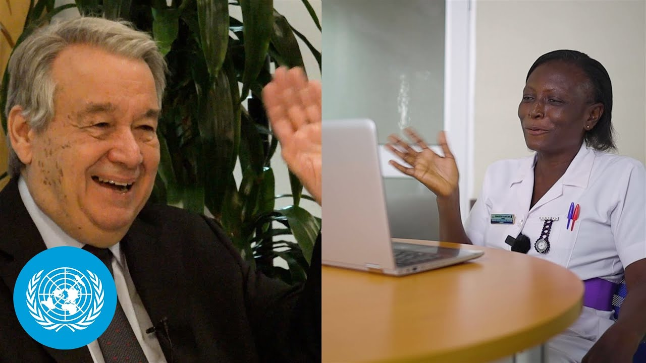 COVID-19 in Ghana: UN Chief speaks with health worker on the pandemic's frontlines