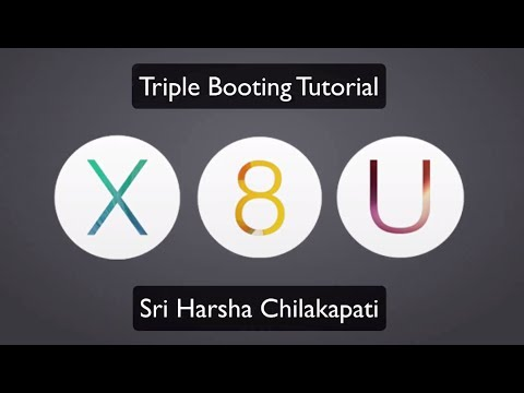 TripleBoot OS X Mavericks, Windows 8.1 Pro and Ubuntu 13.10 - YouTube