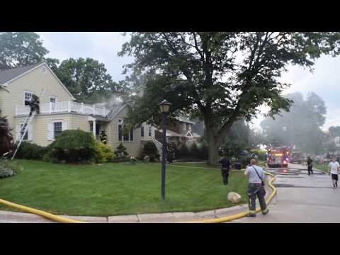 House Struck By Lightning Saved by Port Washington Fire Department