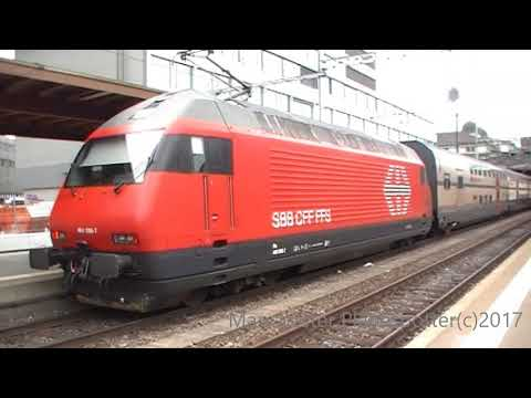 Swiss Trains And Freight Trains At Winterthur On The 21/08/2017