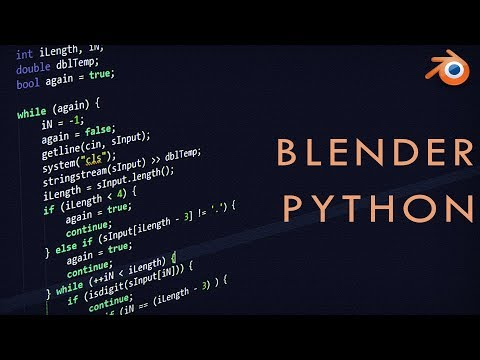 Blender 2.8 PYTHON For Beginners (Automate)
