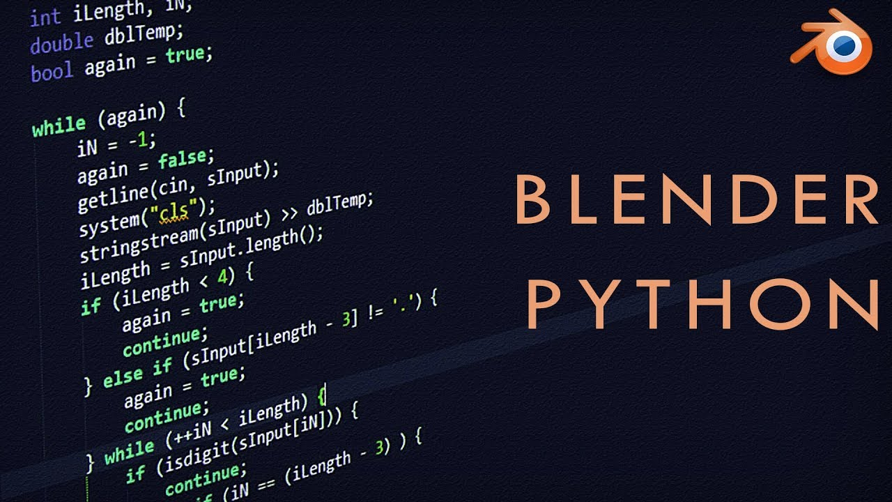 Blender 2 8 PYTHON for Beginners (Automate)