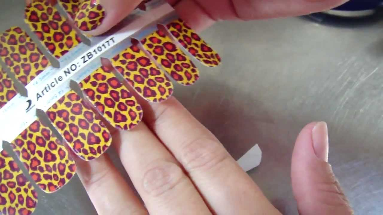 How To Apply Bling It On Nail StickersBangkok Thailand