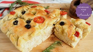 How to Make Focaccia Bread by Hand in 5 Easy Steps | Homemade Food by Amanda