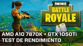 Fortnite Battle Royale - AMD A10 7870K + GTX 1050 Ti (1080p Epic)