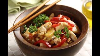 Przepis - Kurczak po chińsku z ananasem i papryką (przepisy kulinarne przepisy.pl)