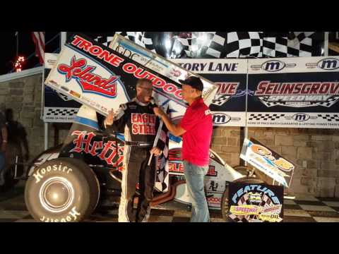 Selinsgrove Speedway 410 Sprint Car Victory Lane 06-10-16