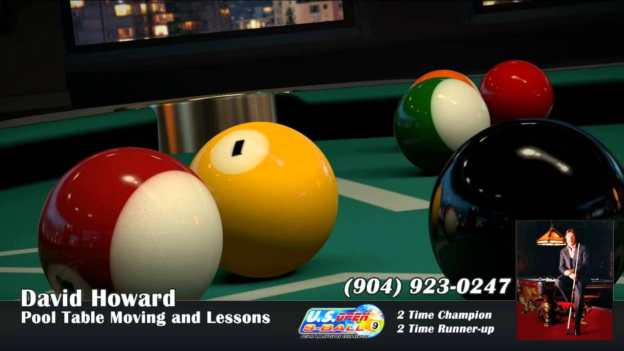 David Howard Pool Table Moving And Lessons In Jacksonville FL - Pool table jacksonville fl