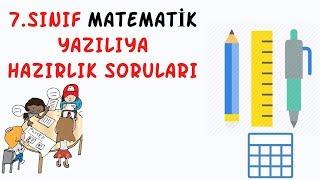 7.Sınıf Matematik / Yazılı Soruları Ve Çözümleri / 1.Dönem 1.Yazılı