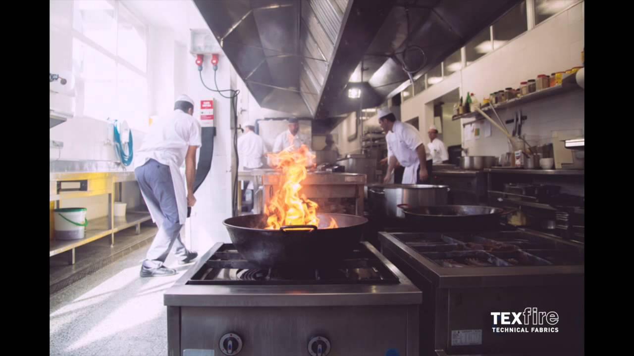 Manta ign fuga apagafuegos texfire field test cocina profesional youtube - Cocina de fuego ...