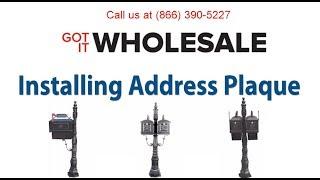 Got It Wholesale MB200 & MB600 Installing the Address Plaque