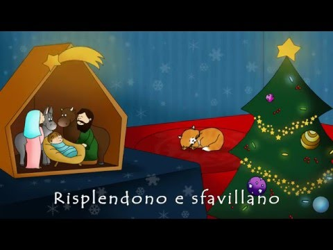 Christmas Songs - Oh Christmas Tree (Oh Albero) - Video with lyrics - very sweet version in italian