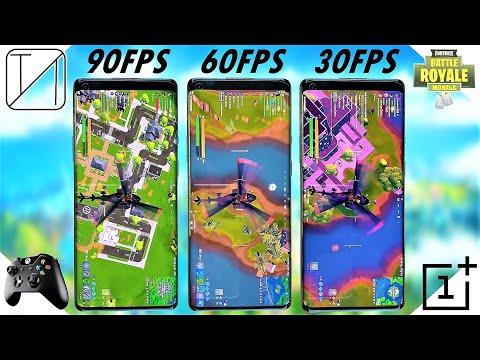 [Slow Motion] 90FPS Vs 60FPS Vs 30FPS - OnePlus 8 Pro Fortnite Gameplay Comparison