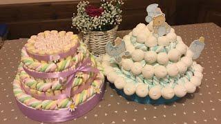Tutorial- come realizzare una torta di marshmallow e caramelle - Candy Cake