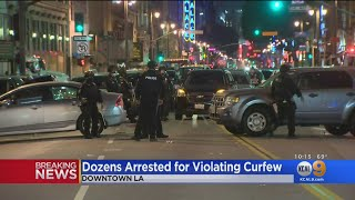 Protesters Arrested In DTLA For Curfew Violations After Seventh Day Of Demonstrations