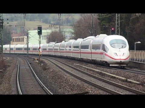 Züge in Altbach und Stuttgart