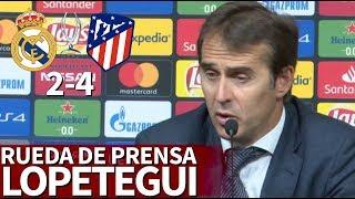 Real Madrid 2-4 Atlético   Rueda de prensa de Lopetegui tras la Supercopa   Diario AS