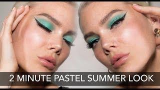 2 Minute Makeup - Pastel Summer Look | Linda Hallberg