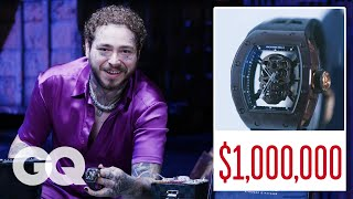 Post Malone Shows Off His Insane Jewelry Collection Part 2 | On the Rocks | GQ