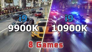 Intel i9-9900K vs i9-10900K // Test in 8 Games