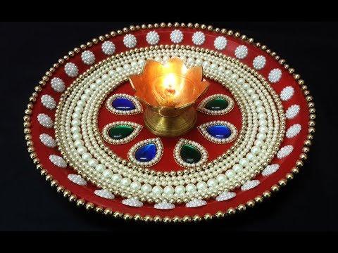 Diy diwali puja thali decoration handmade thali for raksha bandhan diy diwali puja thali decoration handmade thali for raksha bandhan decorated rakhi for weddings junglespirit Choice Image
