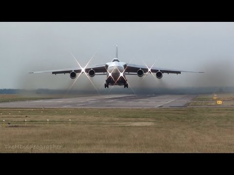 Antonov AN-124 Heavy Takeoff at East Midlands Airport