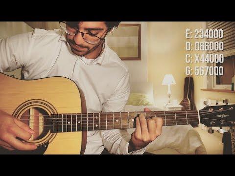 bon iver - blood bank (guitar tutorial)