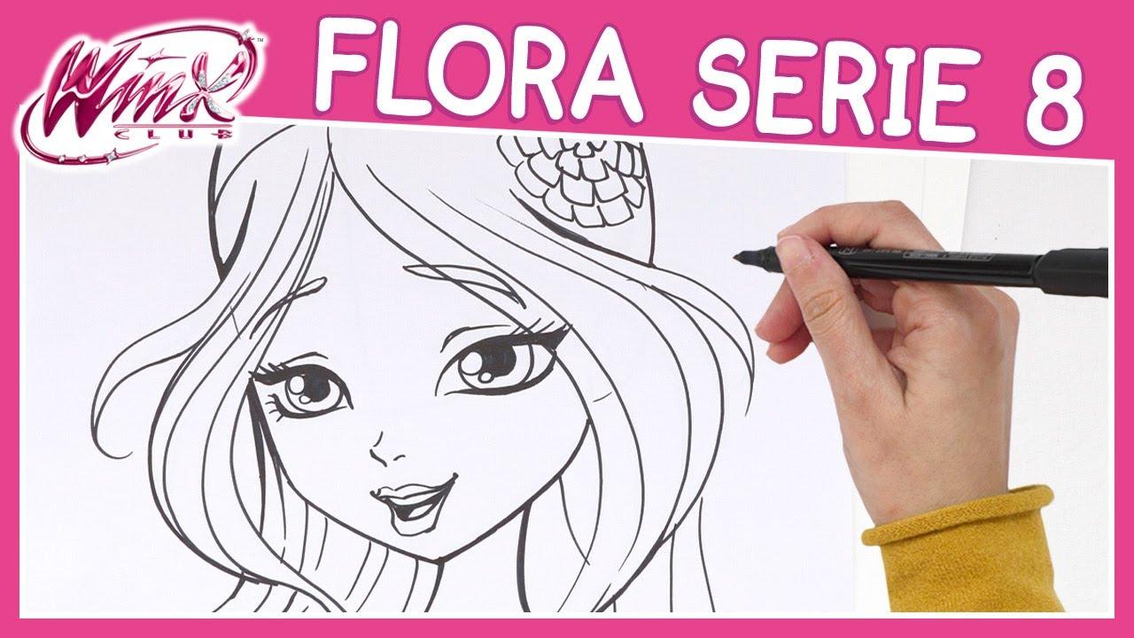 Disegni Da Colorare Disney Winx.Winx Club Serie 8 Come Disegnare Flora Tutorial Youtube