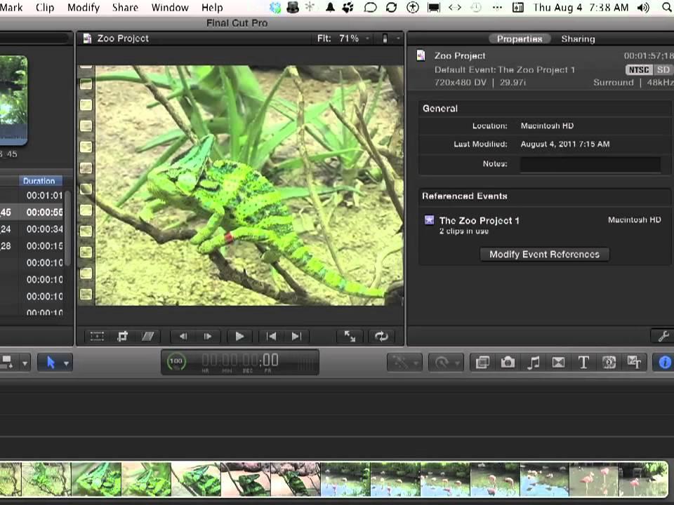 Apple Final Cut Pro X Tutorial - How to Modify Project Properties ...