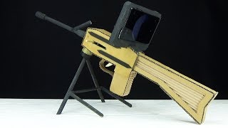 Diy Cardboard Toy Sniper Rifle Gun With Smartphone Sight  Scope