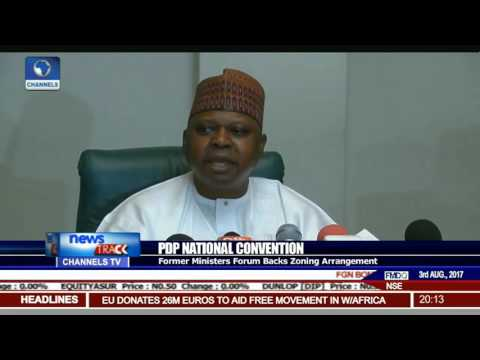 PDP National Convention: Fmr Ministers Forum Backs Zoning Arrangement