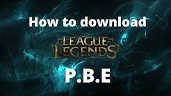 How to download League of Legends PBE client