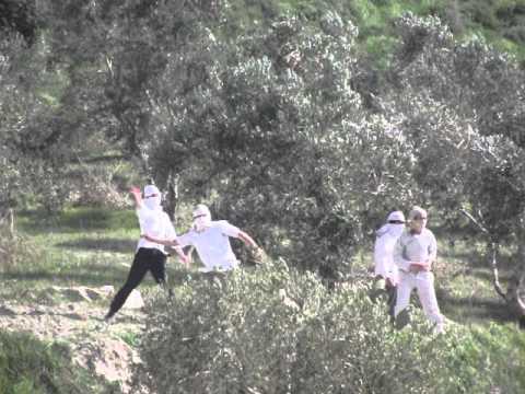 اعتدائات المستوطنين على قريه جيت 22/2/2014