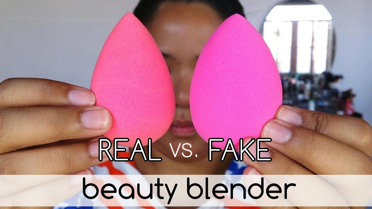 authentic vs fake beauty blender comparison review taglish