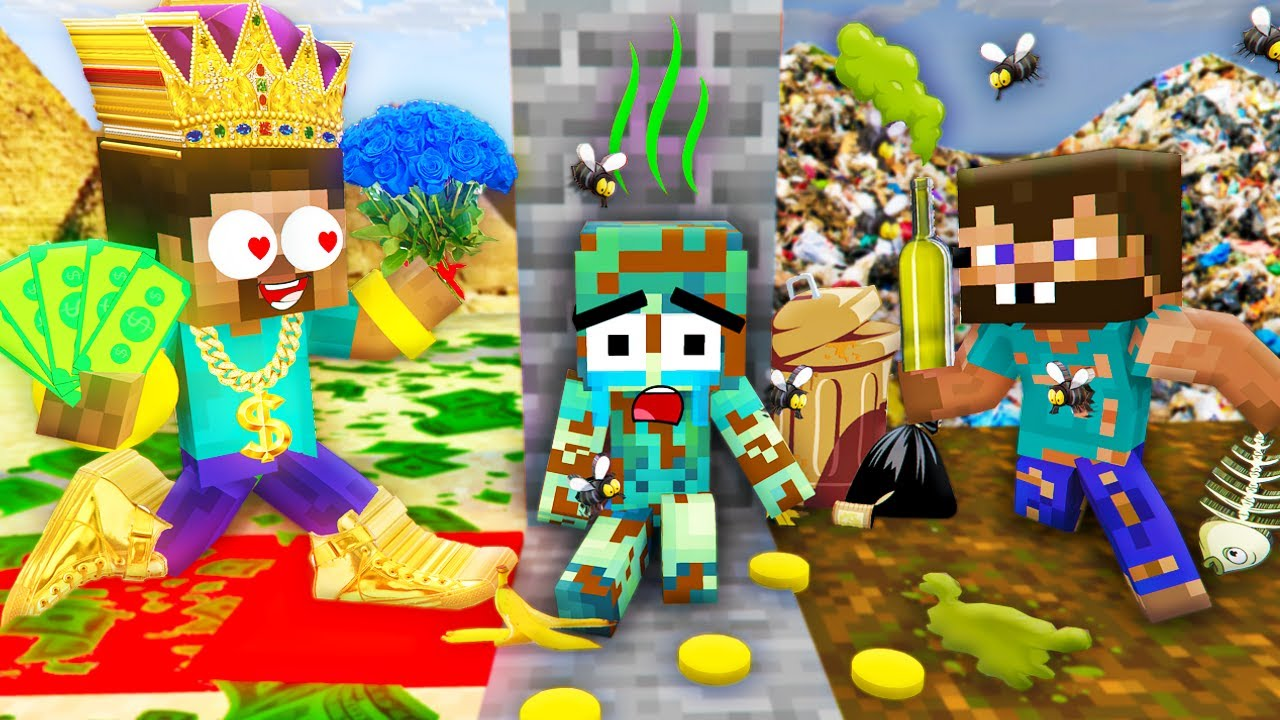 Monster School: Poor Good Baby Zombie Bad Mother Brewing Herobrine All Episode - Minecraft Animation