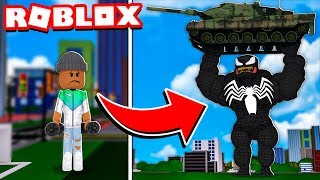 I got MAX STRENGTH and TRANSFORMED into VENOM in Lifting Simulator! (Roblox)