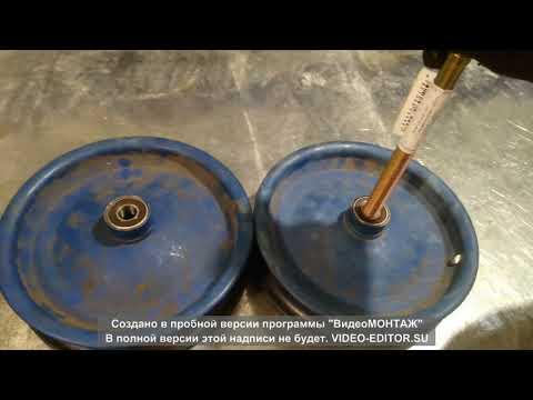 Ремонт колес садовой тачки.