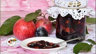 Варенье из груш и слив с яблоками и пряностями. Супер вкусно и быстро готовится.