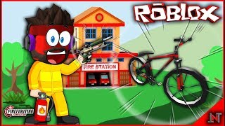 ROBLOX Indonesia #182 Fire Fighting Simulator | Update vehicles and buy bicycles around the complex