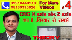 #4 CNC X axis and Z axis theory in Hindi