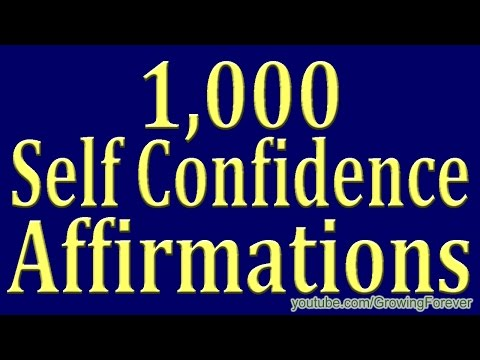 1,000 ★POWERFUL★ Self Confidence Affirmations - Attract Wealth Money Prosperity Cash Abundance