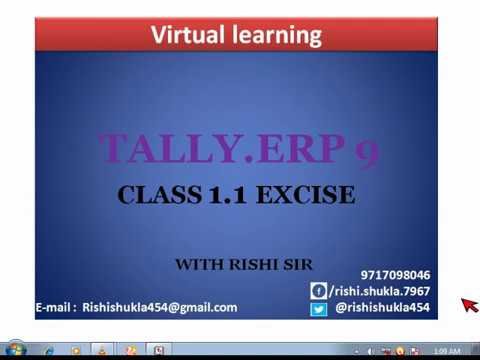 EXCISE ON TALLY RELEASE 5 IN HINDI LESSON - 1.1