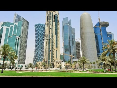Driving in Doha Street Scenes 2016 Qatar Trip Travel Video Guide الدوحة قطر