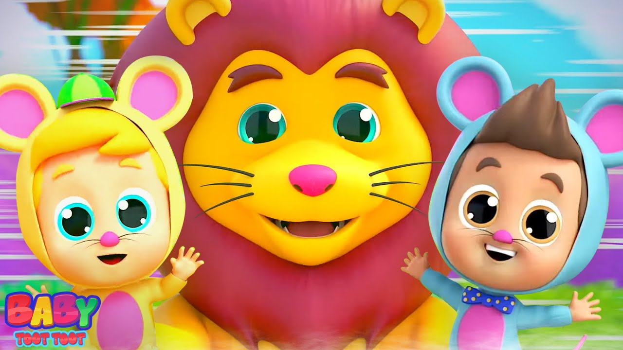 The Lion and The Mouse Story   Kids Cartoon Stories & Fairy Tales   Pretend and Play Song - Kids Tv