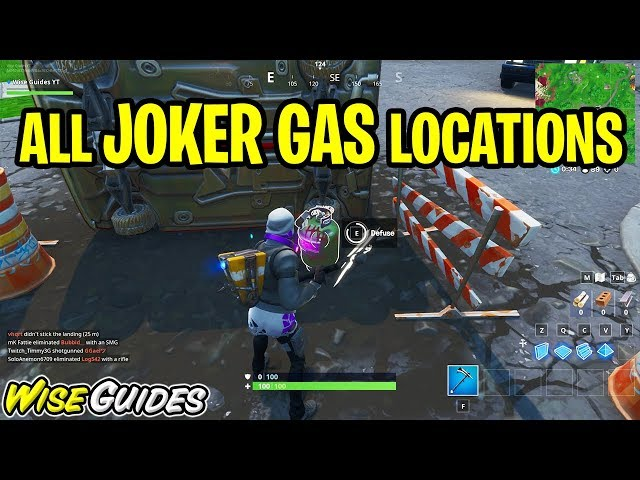 Defuse Joker Gas Canisters All Locations Guide Fortnite