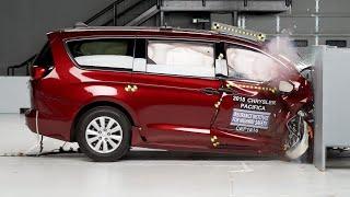 2018 Chrysler Pacifica passenger-side small overlap IIHS crash test