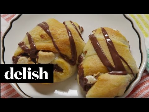 How To Make S'Mores Crescent Roll-Ups | Delish